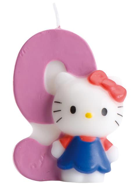 Hello Kitty Kaars Nummer 9