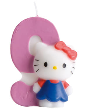 Hello Kitty Number 9 Candle