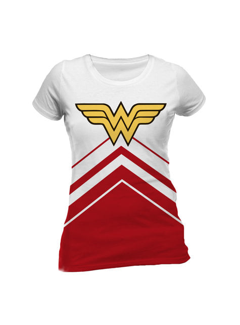 Deluxe Wonder Woman Symbol t-skjorte til dame