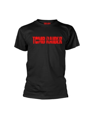 T-shirt  Tomb Raider gris nera per uomo