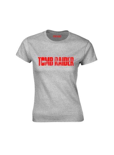 T-shirt Tomb Raider cinzenta para mulher