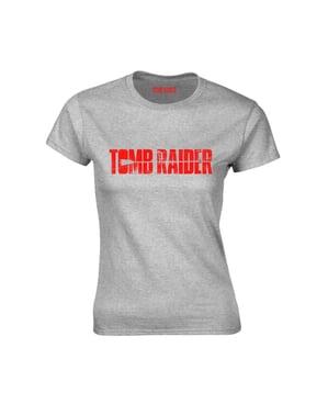 Tricou Tomb Raider gri pentru femeie