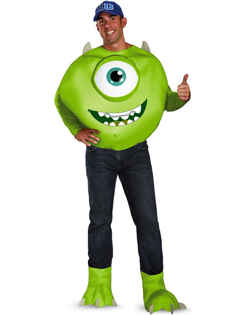 Mike Wazowski deluxe kostume til voksne