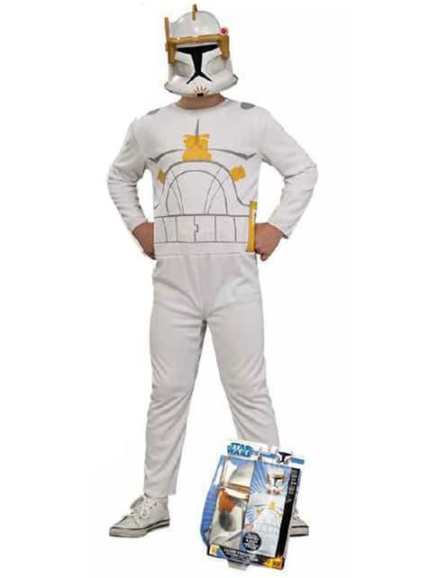 Kommandør Cody Clone Trooper Action Suit Kostyme Barn