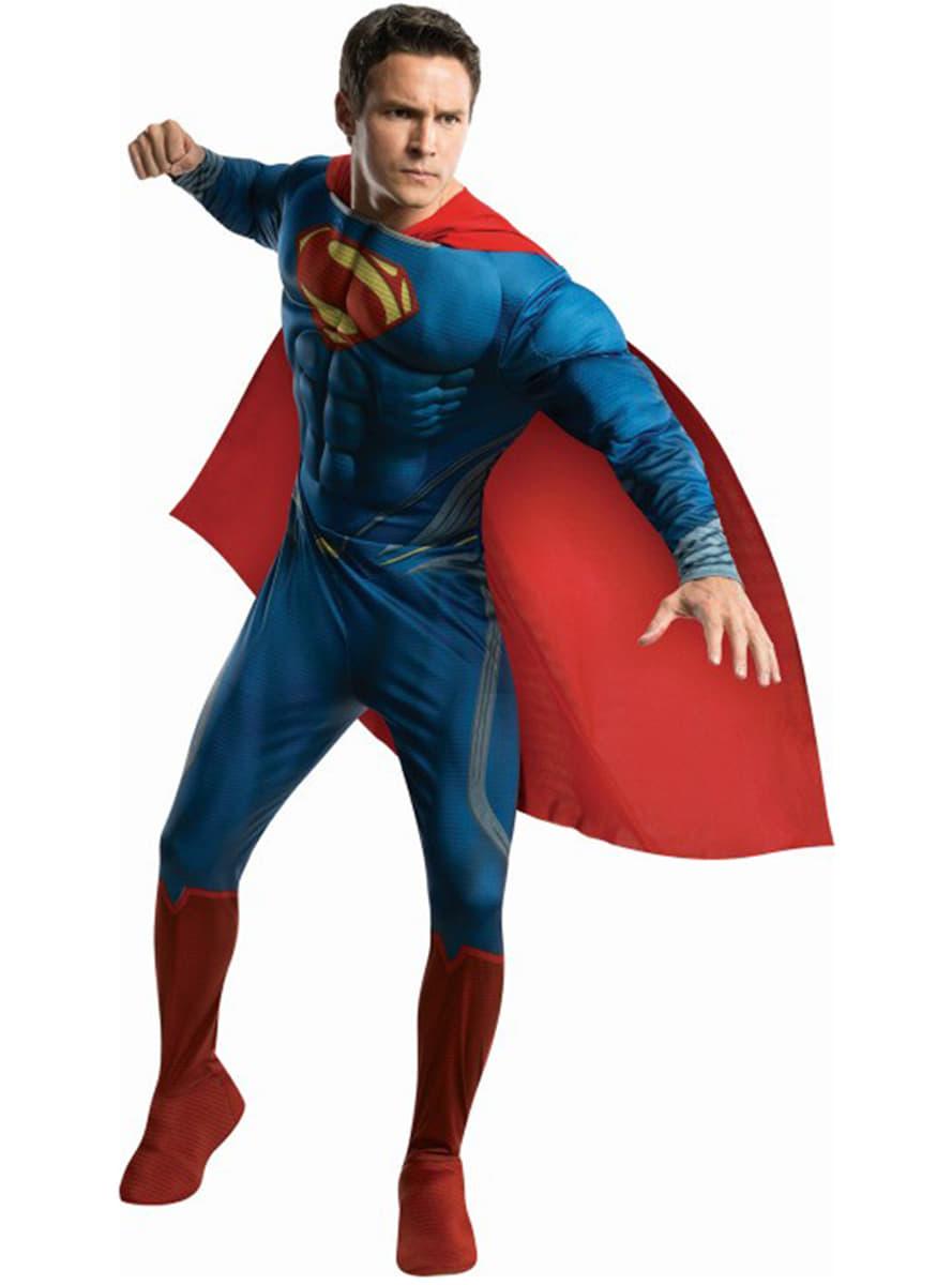 Costume de superman man of steel muscl pour enfants acheter en ligne sur funidelia - Photo deco slaapkamer volwassene ...