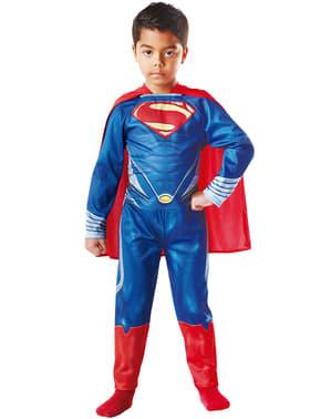 Fato de Superman Homem de Aço para menino