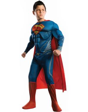 Disfraz de Superman Hombre de Acero musculoso para niño