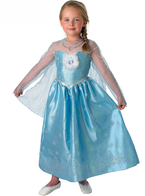 Fato de Elsa Deluxe Frozen para menina