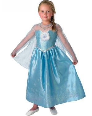 Costum Elsa Regatul de gheață (Frozen) Deluxe pentru fată