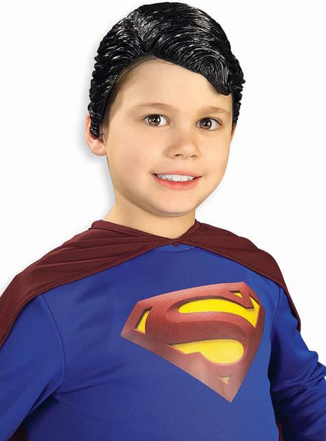 Vinyl Superman Pruik voor kinderen