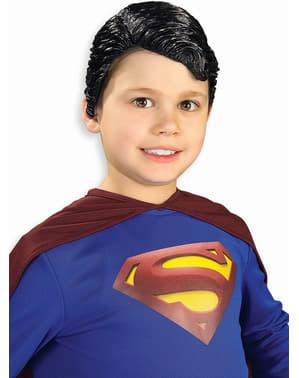 Perruque en vinyle de Superman pour enfant