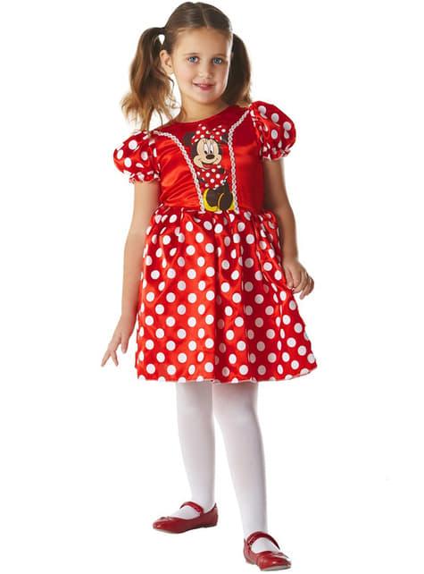 Strój Minnie Mouse Classic czerwony dla dziewczynki