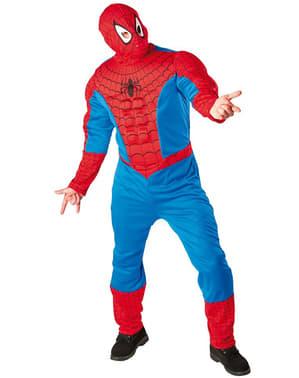 Fato de Spiderman musculoso para adulto