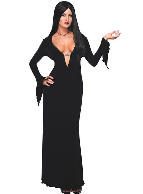 Seksikäs Morticia The Addams Family- asu aikuiselle