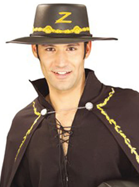 Chapéu do Zorro com adornos