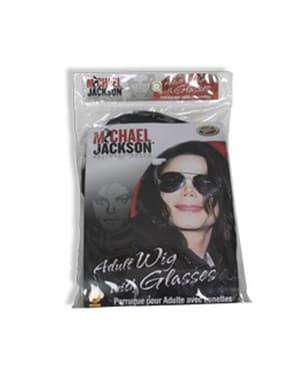 Michael Jackson Peruk och glasögon