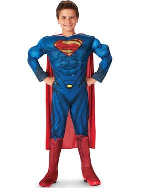 Costum Superman Omul de Oțel musculos pentru băiat