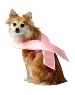 Рожева стрічка для собаки