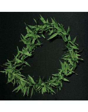 Halskæde af marihuanablade