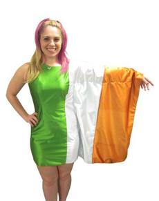 Disfraz de bandera de Irlanda para mujer