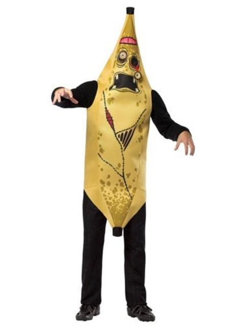 Fato de banana zombie tamanho grande