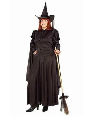 Hexen Kostüm schwarz große Größe