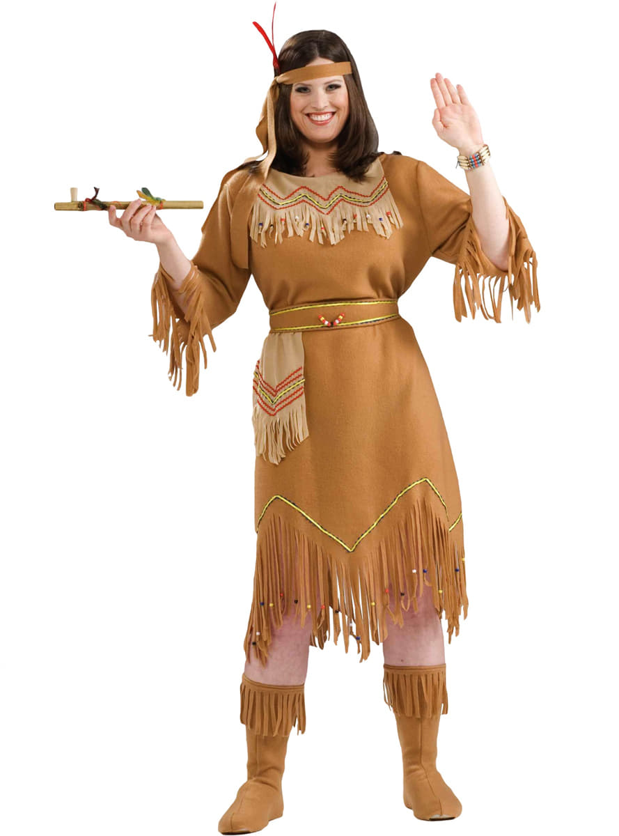 Plus Size American Indian Girl Adult Costume. The Coolest