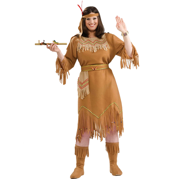 Plus Size American Indian Girl Adult Costume
