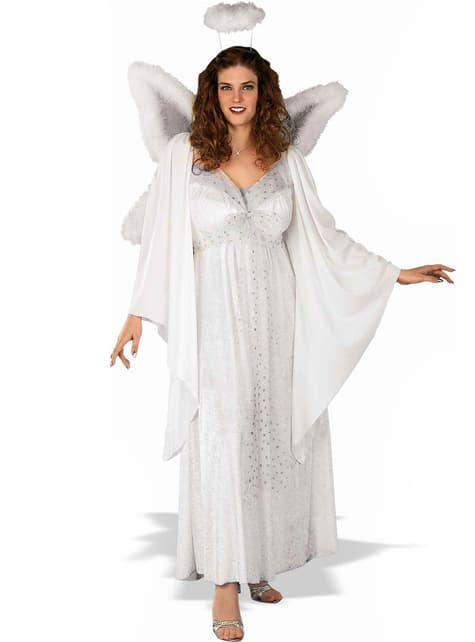 Costum de înger pentru femeie mărime mare