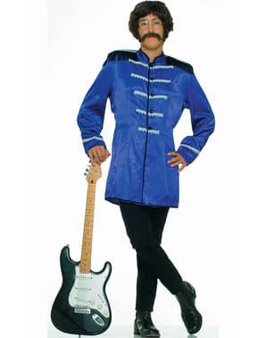 Costume azzurro da stella del rock'n roll britannica