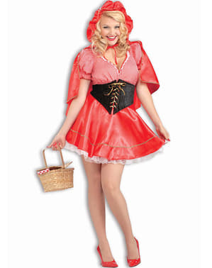 Lille Rødhette plus size kostyme til Voksen