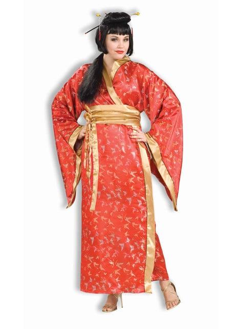 Disfraz de geisha Madame Butterfly talla grande