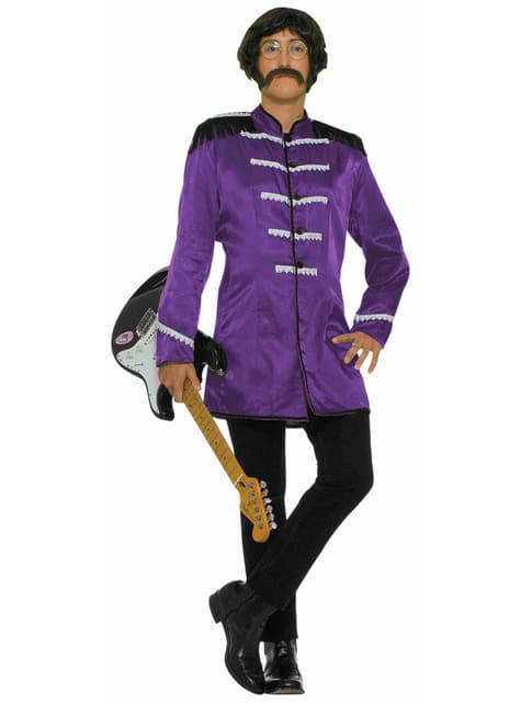 Disfraz púrpura de estrella del rock n roll británica