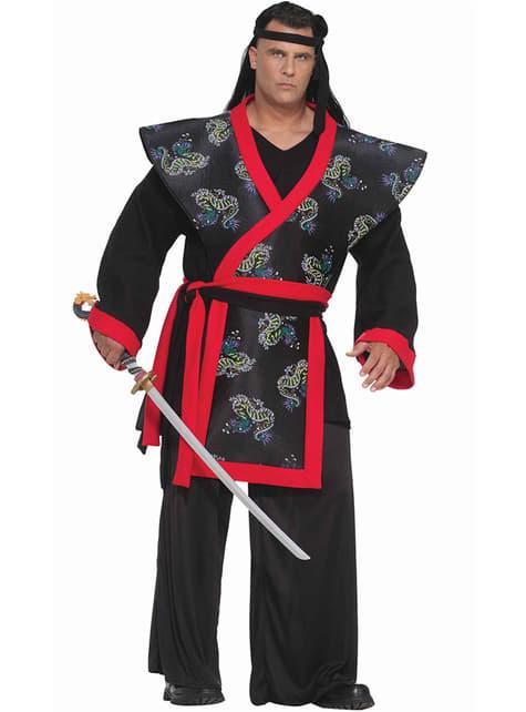 Kostým pro dospělé super samurai nadměrná velikost