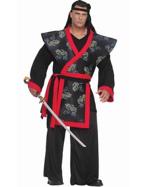Super Samurai plus size kostyme til Voksen