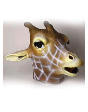 Maschera di lattice da giraffa