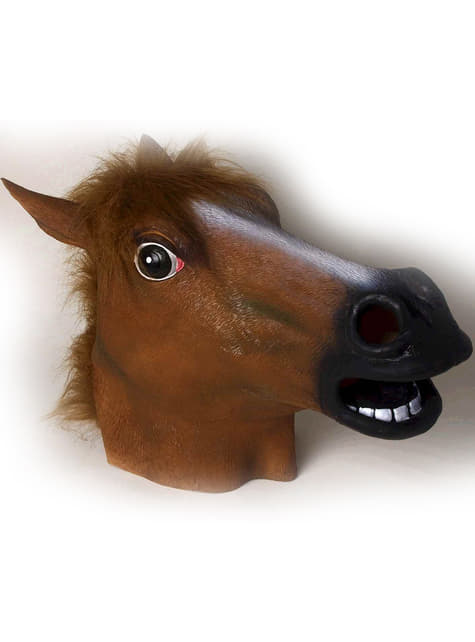 Latex masker van gestoord paard