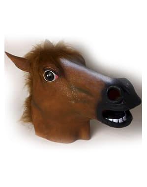 Máscara látex de cavalo louco