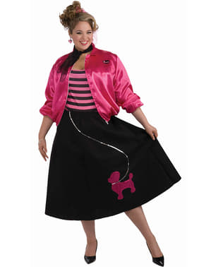 Plus Size Fifties Adult Costume with Poodle Image