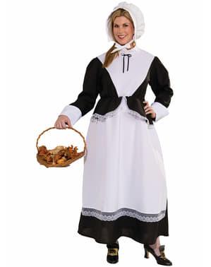 Plus Size American Pilgrim Lady Adult Costume