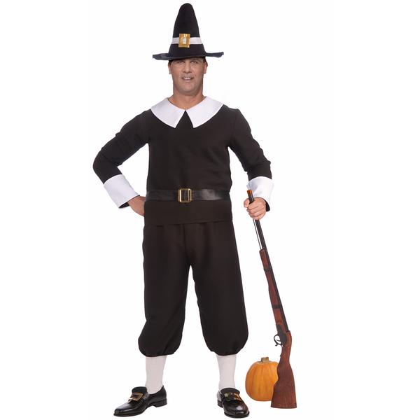 Plus Size American Pilgrim Man Adult Costume