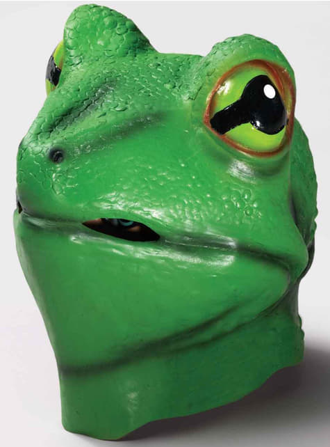 Maschera di lattice da rana