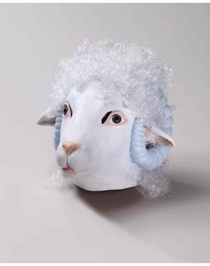Latexová maska ovce deluxe