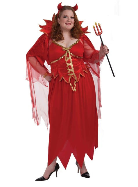Teufelin Kostüm extra große Größe