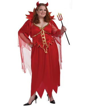 Плюс размер Diabla Възрастен костюм