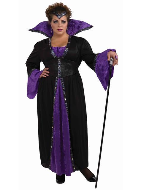 Vrouwelijke tovenaar Plus Size kostuum voor volwassenen