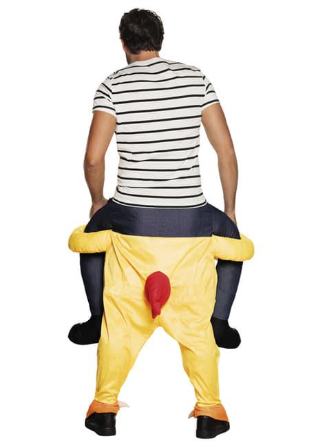 Disfraz de pollo ride on para adulto