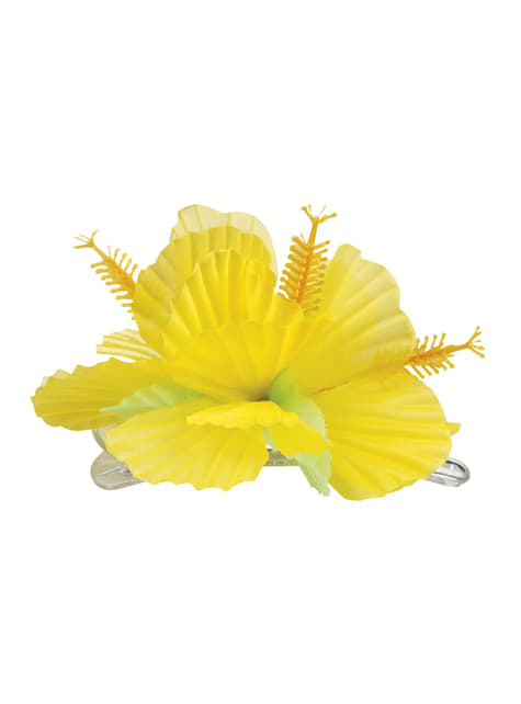 Floare hawaiană galbenă pentru păr