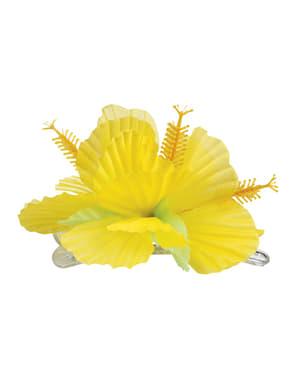 Gul Hawaii blomster til hår