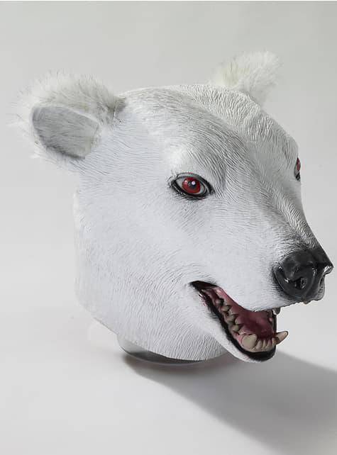 Isbjørn Latex Maske